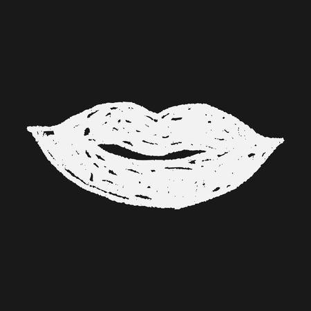 smooch: doodle del beso Vectores