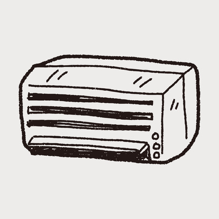 air: air conditioning doodle Illustration