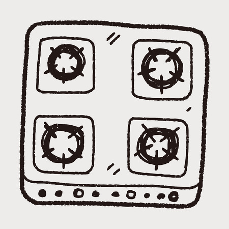 gas stove: gas stove doodle