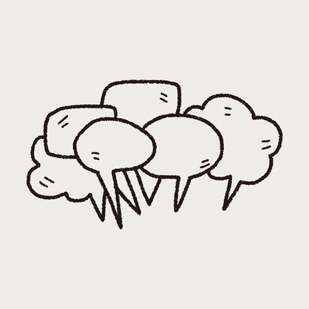 mensen praten doodle Stock Illustratie