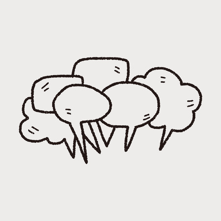 bubble background: people talk doodle Illustration