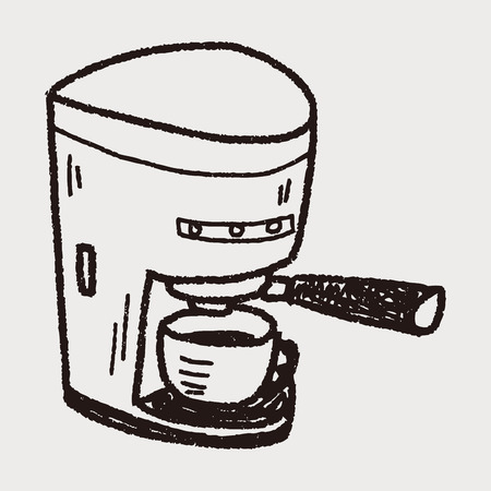 coffee maker: doodle de cafetera