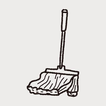 mop: mop doodle Illustration