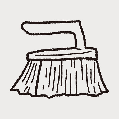 wooden shoes: clean brush doodle