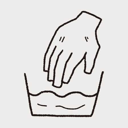 wash: wash hand doodle