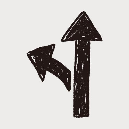 road sign doodle