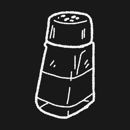 pepper grinder: salt pepper doodle Illustration