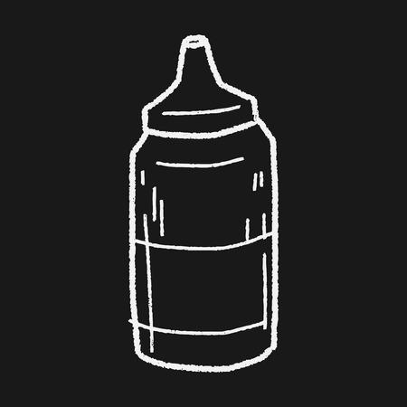 ketchup: ketchup doodle Illustration