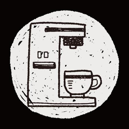 메이커: coffee maker doodle