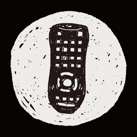 remote control doodle Vector