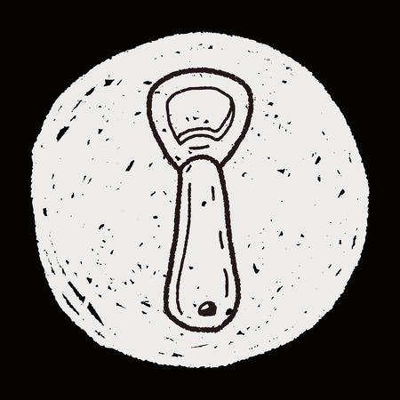 the opener: bottle opener doodle