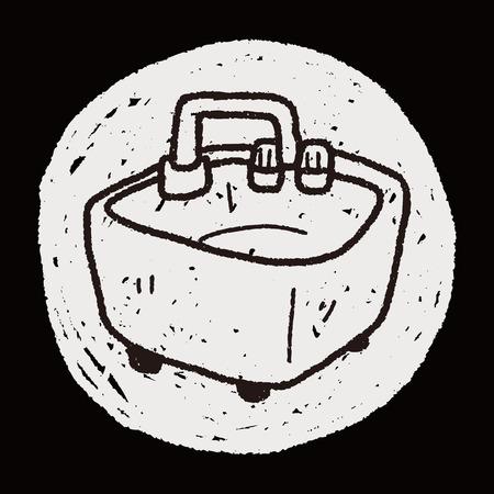 basin: water basin doodle Illustration