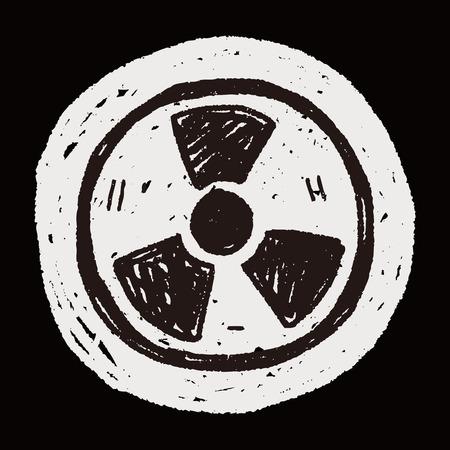 nuclear energy doodle