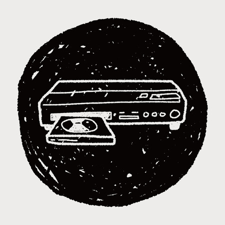 dvd player doodle Vector