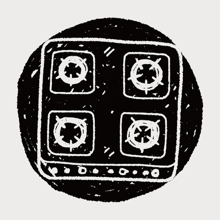 butane: gas stove doodle