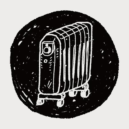 calentador: doodle del calentador Vectores
