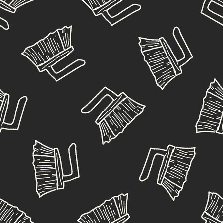 wooden shoes: clean brush doodle seamless pattern background