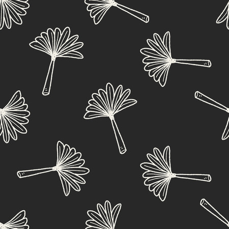 feather duster: feather duster doodle seamless pattern background Illustration