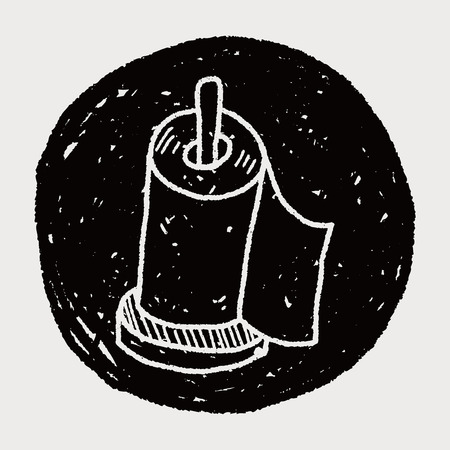 toilet paper art: facial tissue doodle doodle Illustration