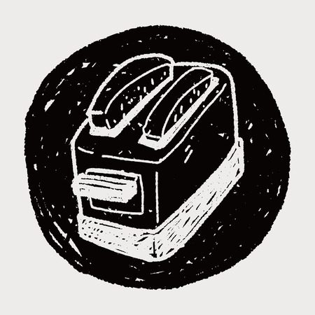 toaster: toaster doodle Illustration
