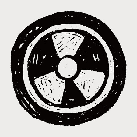 nuclear safety: nuclear energy doodle