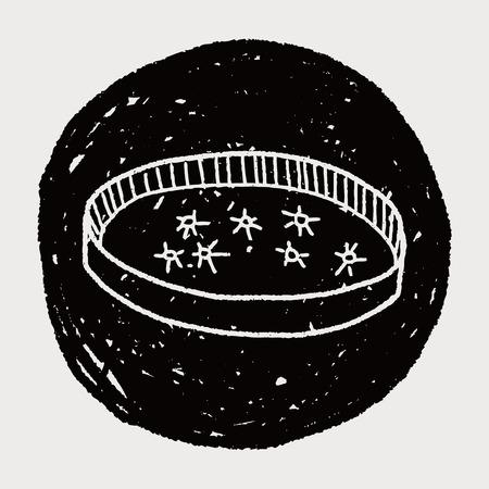 petri: petri dish doodle Illustration