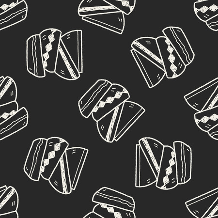 dishes: dishes doodle seamless pattern background