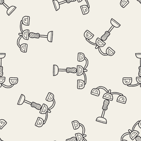hanging lamp: hanging lamp doodle seamless pattern background