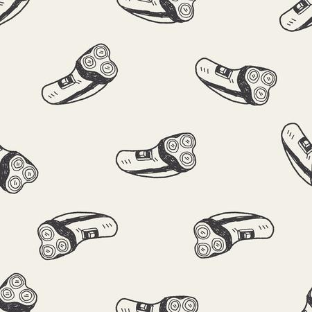 rasoir: rasoir doodle seamless fond Illustration