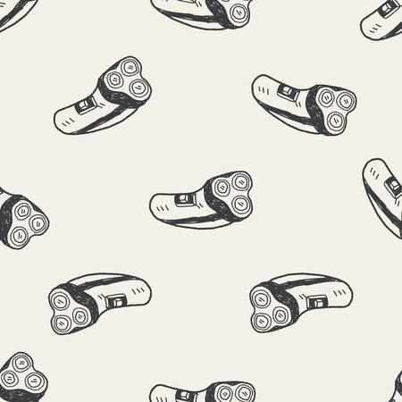 shaver: shaver doodle seamless pattern background