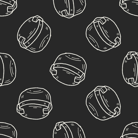 plastic box: plastic box doodle seamless pattern background