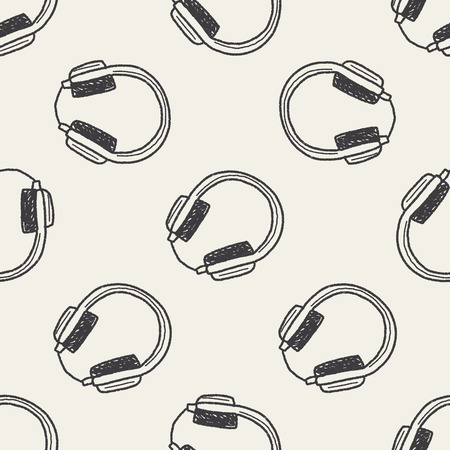 keywords  backdrop: headphone doodle seamless pattern background