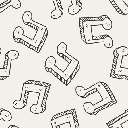 keywords  backdrop: music note doodle seamless pattern background
