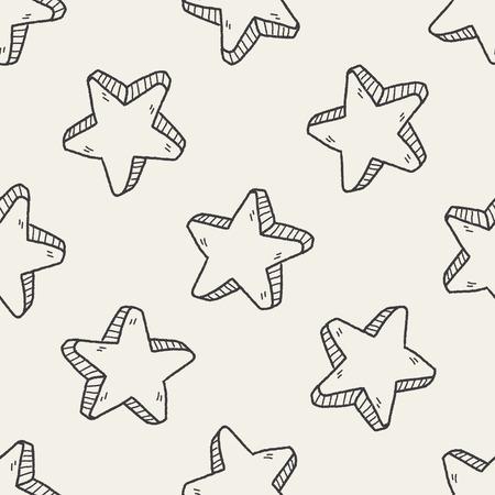 keywords backdrop: star doodle seamless pattern background Illustration