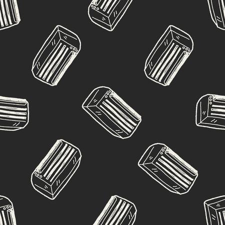 에어컨 낙서 원활한 패턴 배경