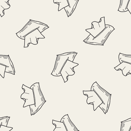 tissues: facial tissue doodle seamless pattern background Illustration