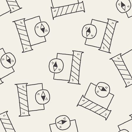 ions: Electric science doodle seamless pattern background