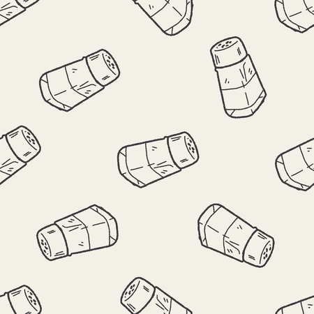 salt pepper: salt pepper doodle seamless pattern background