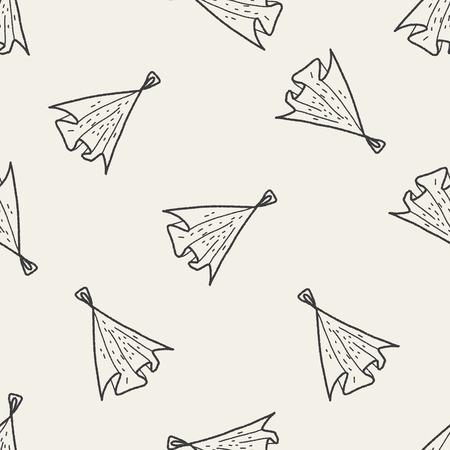 rag: Rag doodle seamless pattern background Illustration