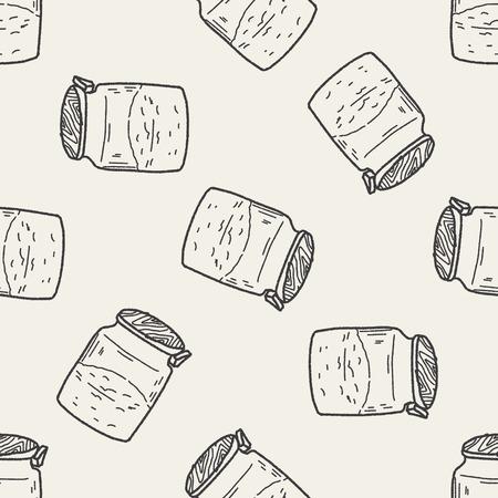 pepper grinder: salt pepper doodle seamless pattern background