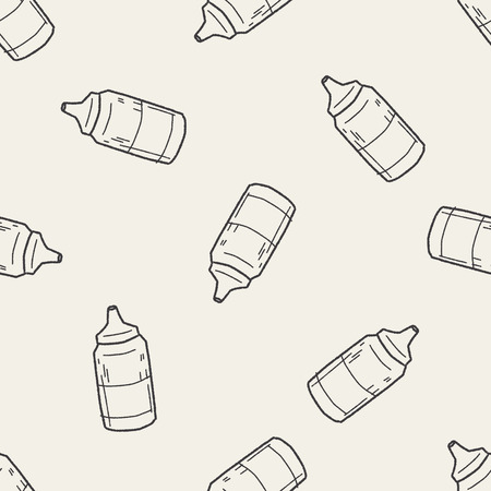 catsup bottle: ketchup di doodle seamless