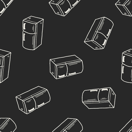 refrigerator: refrigerator doodle seamless pattern background