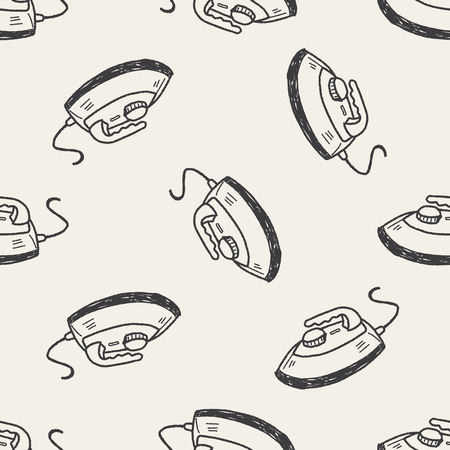 electric iron: iron doodle seamless pattern background Illustration