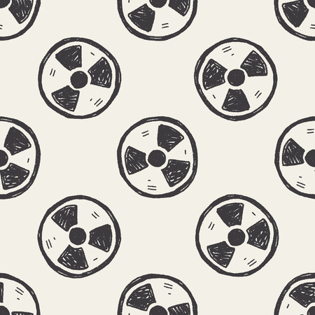 reactor: nuclear energy doodle seamless pattern background