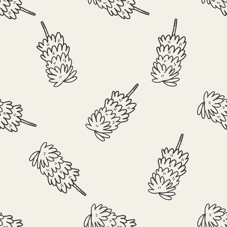 duster: feather duster doodle seamless pattern background Illustration