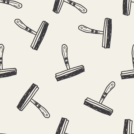 squeegee: squeegee doodle seamless pattern background Illustration