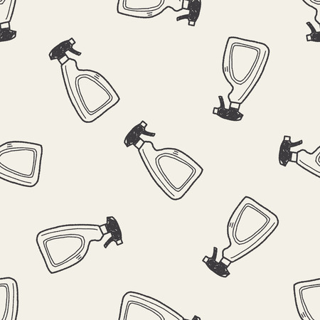 cleaner bottle doodle seamless pattern background 일러스트