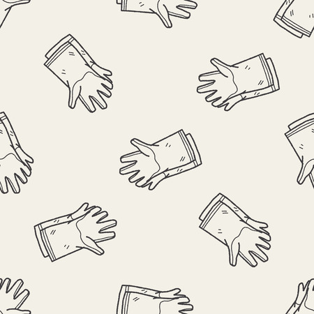 latex glove: clean glove doodle seamless pattern background