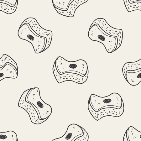 scouring: scouring pad doodle seamless pattern background