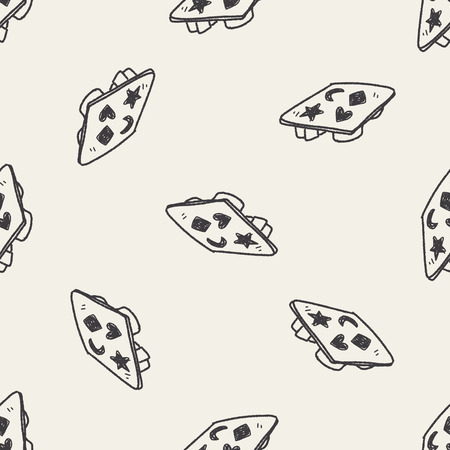 ice box doodle seamless pattern background Vector